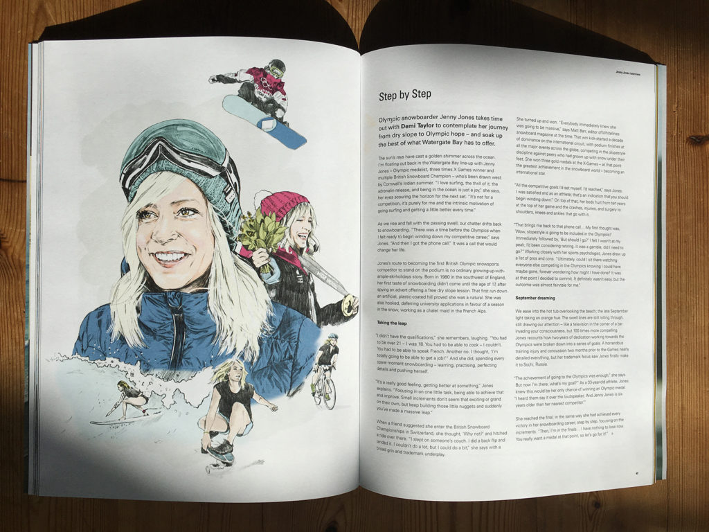 Olympic snowboarder Jenny Jones takes time out with Demi Taylor to contemplate her journey from dry slope to Olympic hope and soak up the best of what Watergate has to offer.